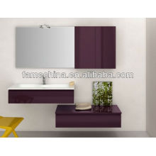 2013 Hangzhou Wall Mounted red glossy painting bathroom cabinet/furniture