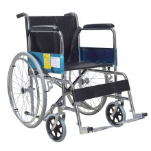 Günstiger Krankenhausrollstuhl Standard Stahl Manueller Rollstuhl