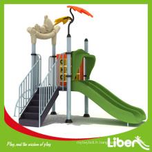 Aire de jeux écologique extérieure gratuite pour enfants en promotion avec rapport de test certifié ISO