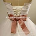 Hochzeitskleid A-line plus size trägerlosen Spitze mit ordentlich einfachen Layered Ballkleid mit Bund Braut Hochzeitskleid 2017