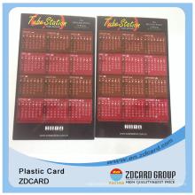 Kalenderkarte / PVC-Druckkalender-Karte