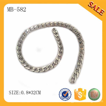 MB582 Decorative fashionable bag parts chain silver metal chain for bag accessory