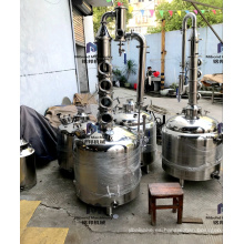26 galones 53 galones Destilería de alcohol columna de reflujo de destilación aún destilador