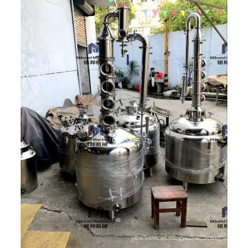 Destilador da coluna do reflux da destilação da destilaria do álcool do galão 53gallon de 26 galões ainda