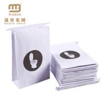 Niedrige Preis-flache untere kranke Papiertüten / Gewohnheit druckten Luftlinie Luftrolle-Papier-Erbrechen-Tasche