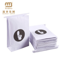 Sacs de papier malades du fond plat de bas prix / sac fait sur commande de vomissement de papier de ligne aérienne