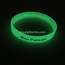 Aangepaste Glow In The Dark Silicone Wristbands