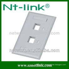RJ45 Double Port Network Faceplate