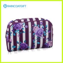 Flower Printed Satin Cosmetic Women′s Clutch Bag Rbc-054