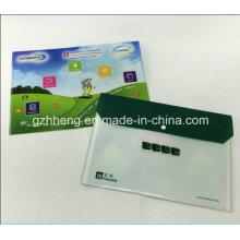 OEM-Farbe gedruckt A4 Dokument Datei Plastikhülle Tragetasche mit Knopf-Verschluss