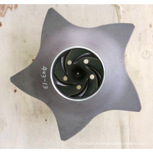 Rotor da bomba de Durco do aço inoxidável / aço de liga 4 * 3-13