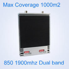CDMA 850 PCS 1900 MHz Amplificador de señal de teléfono celular de alta Gain GSM 3G Amplificador de señal de doble banda de repetidor