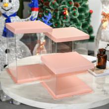 Caja de plástico alto pastel