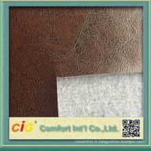 2015 haute qualité semi pu cuir pour canapé