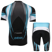 Poliéster de alta qualidade personalizar manga curta camisa de ciclismo