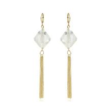 97407 Xuping gland design zircon synthétique 14k couleur or dames boucles d'oreilles goutte