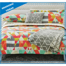 Color Shades Patchwork Printed Polycotton Quilt Cover Set
