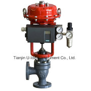 Angle Seat Control Valve with Intelligent Positioner-Flange Type Regulating Pneumatic Angle Seat Valve