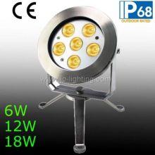 IP68 6W 12W 18W LED Underwater Spot Light
