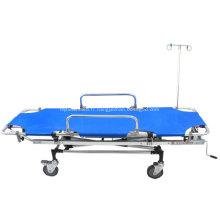 Lit médical de secours en aluminium pliable d'hôpital de secours