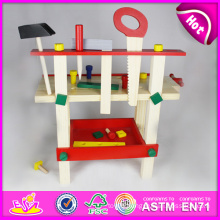Hot New Product for 2015 Wooden Tool Toy, DIY Wooden Toy Tool Set Toy for Children, Pretend Toy Wooden Tool Toy for Baby W03D012