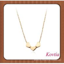 Fashion zinc alloy three heart statement necklace dog accessories