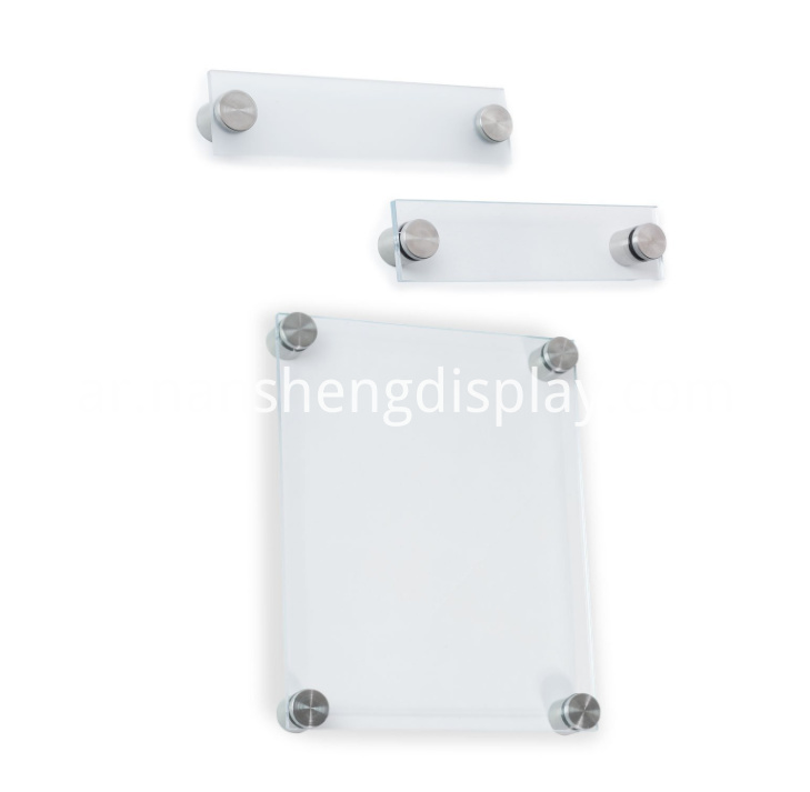 Clear Acrylic Sign Holder