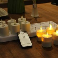 flameless berkedip-kedip luminara rechargeable led lilin dengan remote control