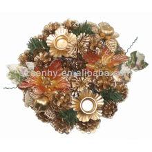 Conejo de pino Candelabro decorativo de Navidad