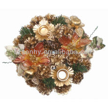 Pine cone Decorative christmas candle holder