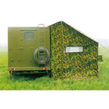 Cold area shower trailer military tent