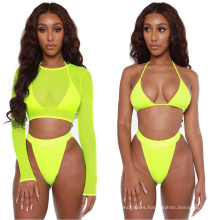 New Arrivals Summer Womens Sexy Bikini Swimsuits with Mesh Cover up