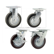 Heavy Duty Type New Double Pedal Brake PU Caster (KHX3-H1-A)