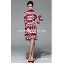 2015 women winter fashion long style coat embroidered applique women coat
