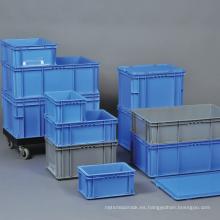 Envase apilable plástico vendedor caliente para el almacenamiento del almacén