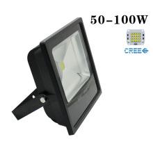 CREE 50W 4500lm 85-265V branco LED jardim do Floodlight