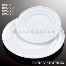 China blanco doble línea de la serie de vajilla de cerámica