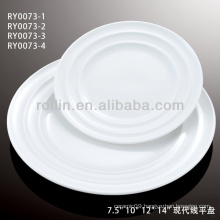 Japan style good quality chinese heart shape porcelain flat plate