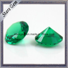 Synthetic Nano Green/Round Shape Spinel/ Heat-Resistant Gemstone