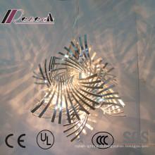 Lampe pendante unique de coupe de fer d'art de conception tordue