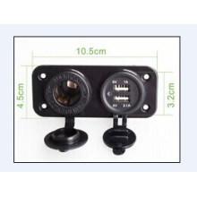 Os dispositivos elétricos do carro sobrecarregam o carregador duplo do carro de USB da motocicleta da proteção