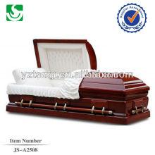 Destacar o caixão de boa qualidade interior branco vermelho