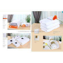 Juegos de toallas de hotel 100% algodón blanco