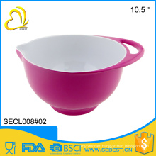 Hot Selling colorful handle melamine plastic kettle