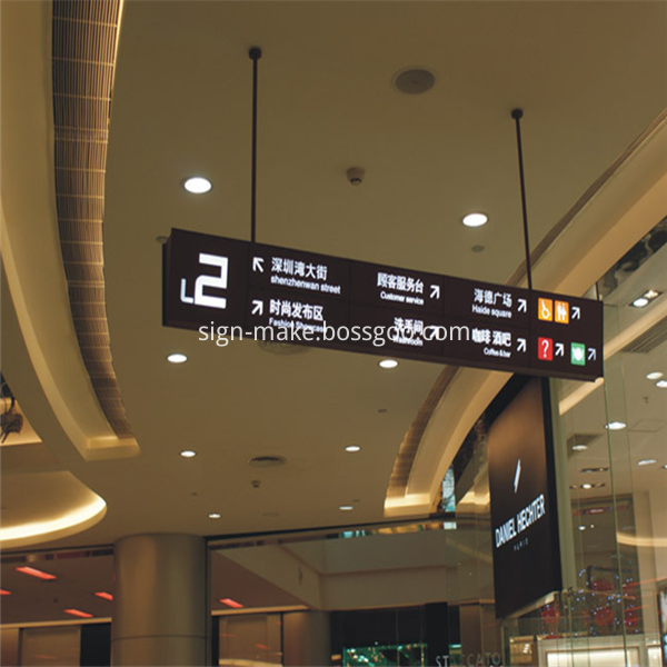 Hanging Direction Sign