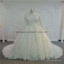 Langarm muslimischen neuen Design Bridal 2017 Hochzeitskleid