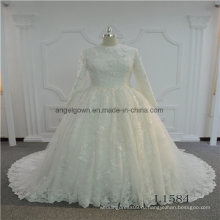 Длинный Рукав Мусульманский Новый Дизайн 2017 Свадебное Платье Для Новобрачных