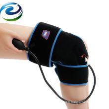 2018 FDA a certifié le paquet de glace réutilisable de gel de genou de couleur de noir de stratifié de velours de PVC