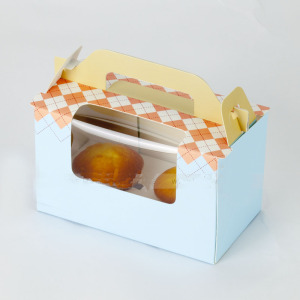 cake box with plastic window