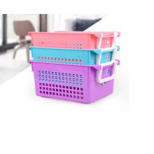Wholesale stockage de panier en plastique réutilisable de haute qualité écologique avec poignée